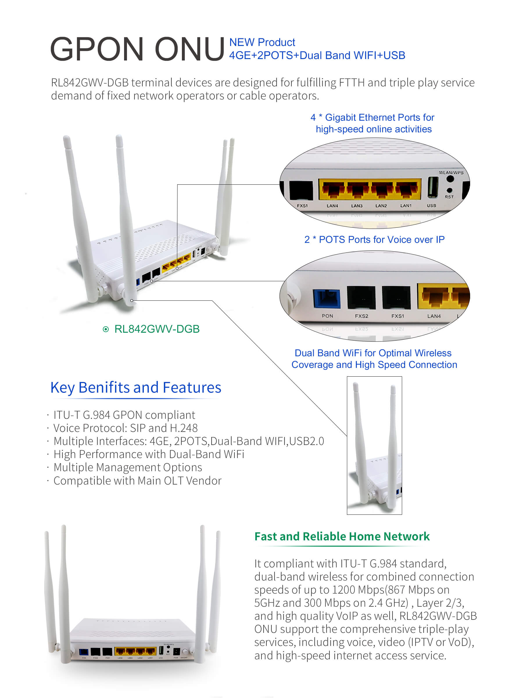 RicherLink Launches RL842GWV-DGB Router Based on GPON Technology