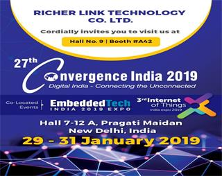 Welcome to visit RicherLink at Convergence India 2019